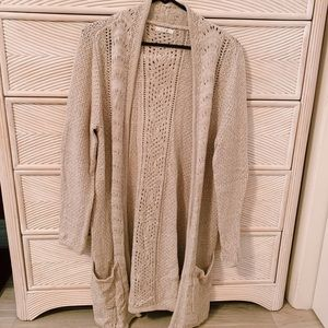 Cream duster cardigan